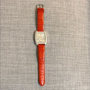 Peugeot Women's Watch with Red Leather Band